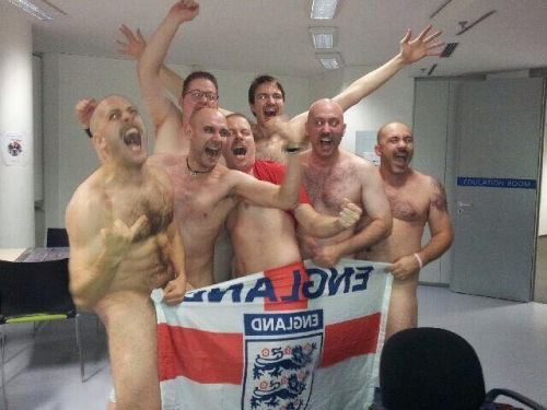Crazy Danes stole the English flag!
